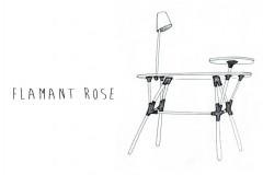 secrétaire FLAMANT ROSE